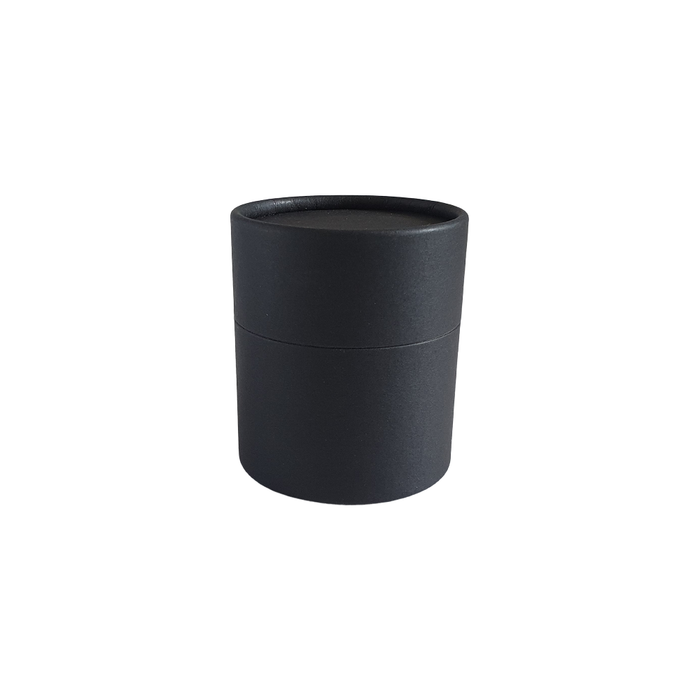 63 x 56 mm black multipurpose cardboard tube with slip lid