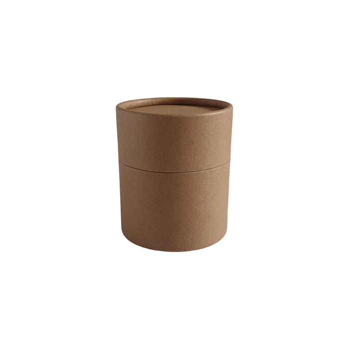 63 x 56 mm brown Kraft multipurpose cardboard tube with slip lid