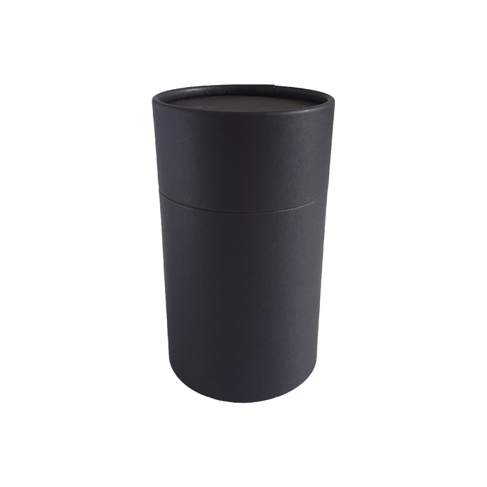 73 x 112 mm black multipurpose cardboard tube with slip lid