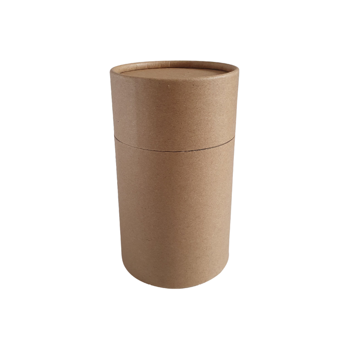 73 x 112 mm brown Kraft multipurpose cardboard tube with slip lid