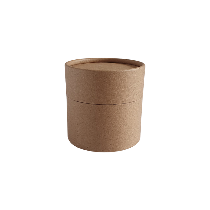 73 x 56 mm brown Kraft multipurpose cardboard tube with slip lid