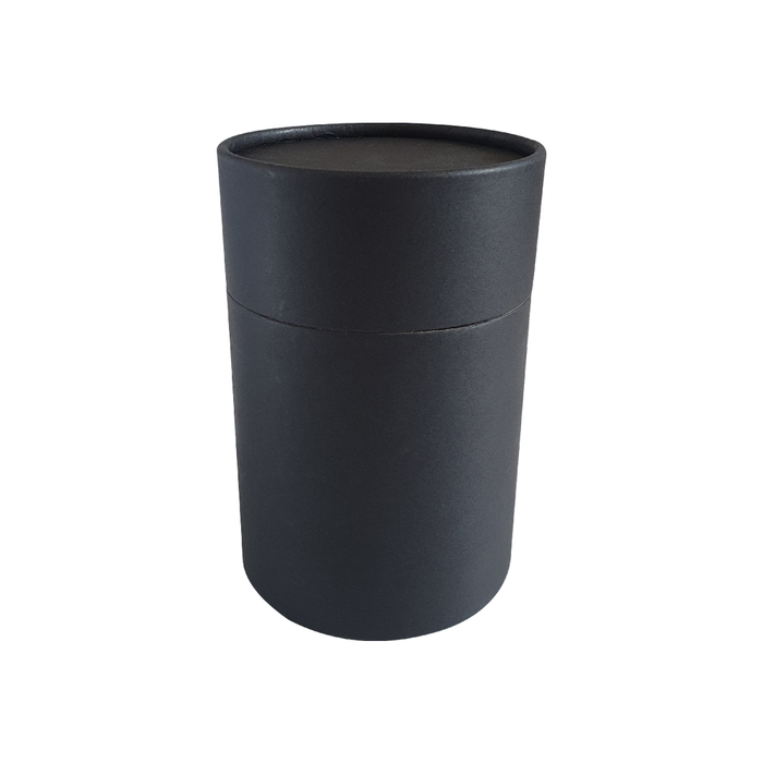 83 x 112 mm black multipurpose cardboard tube with slip lid