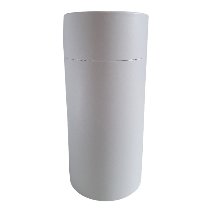 83 x 168 mm white multipurpose cardboard tube with slip lid