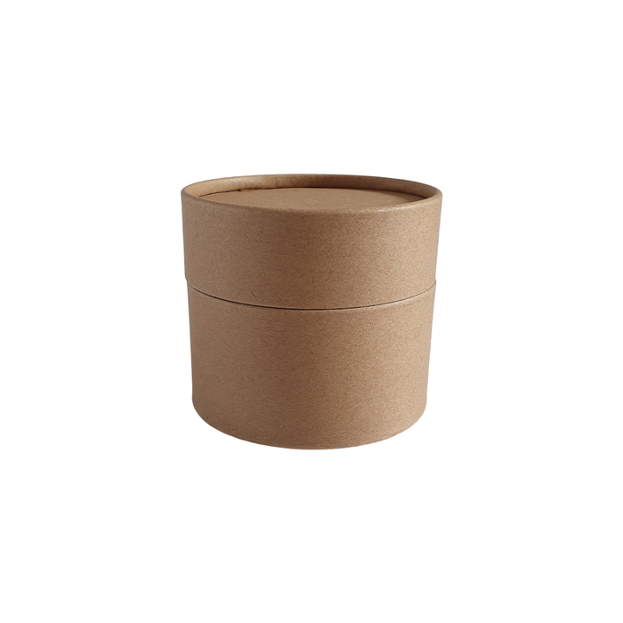 83 x 56 mm brown Kraft multipurpose cardboard tube with slip lid
