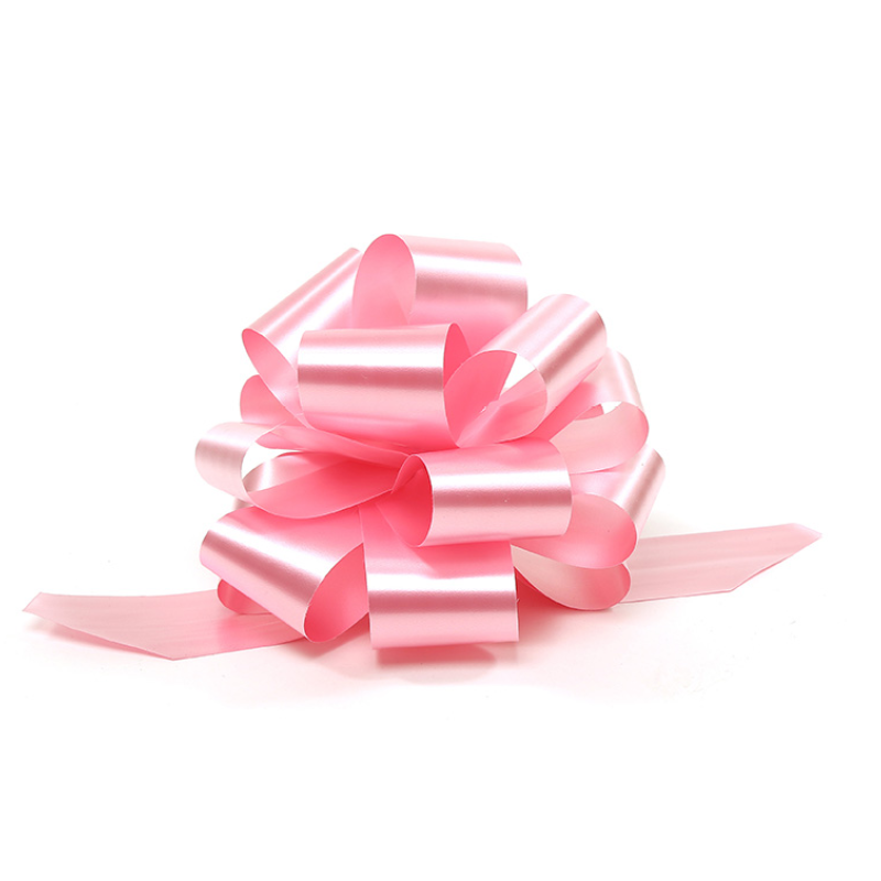 A pink pull bow