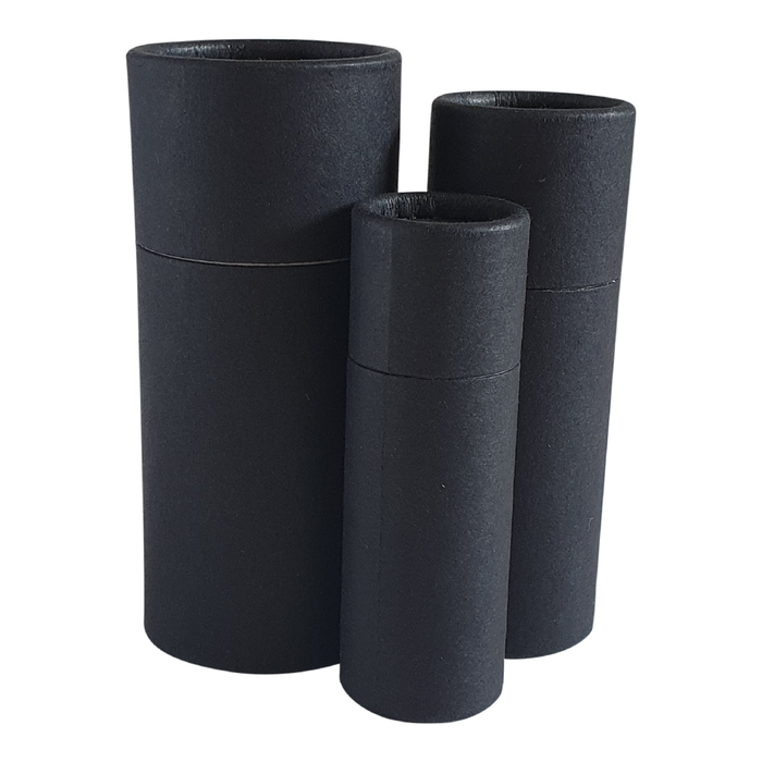 Black push-up cardboard tube collection