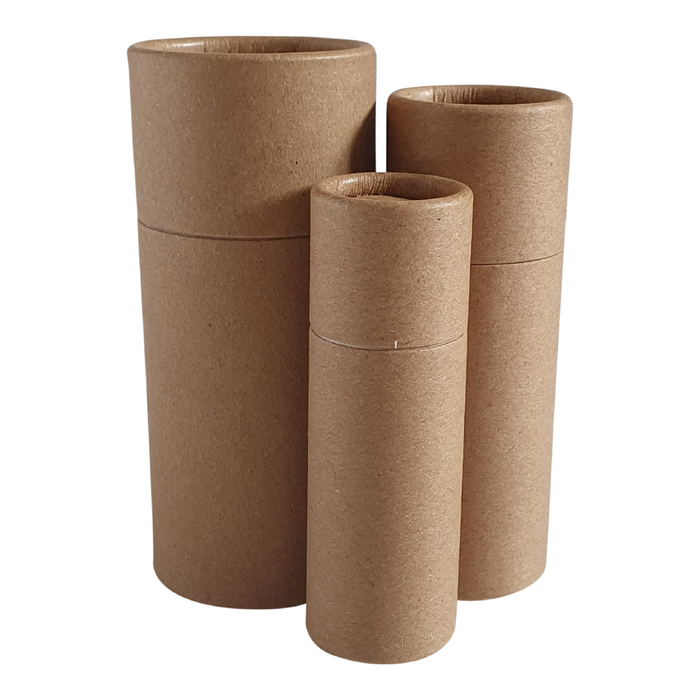 Brown Kraft push-up cardboard tube collection