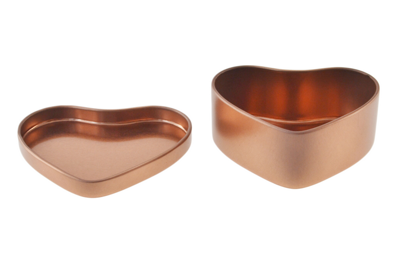 Heart Shaped Rose Gold Tin