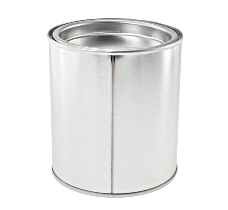 Silver Round Paint Pot Style Tin