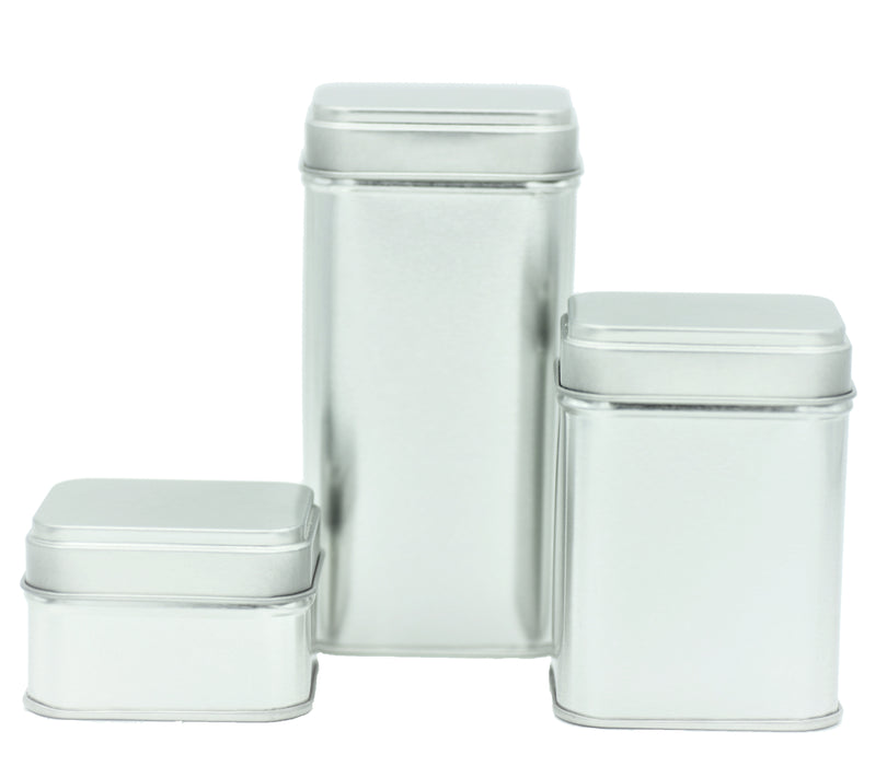 Silver Rectangular Stacking Tins