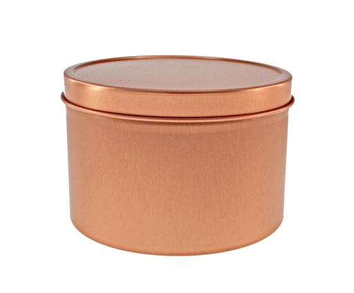 Rose Gold Round Seamless Solid Slip Lid Tins