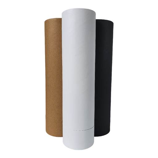 Cardboard tubes with tall lid in white, brown Kraft and black