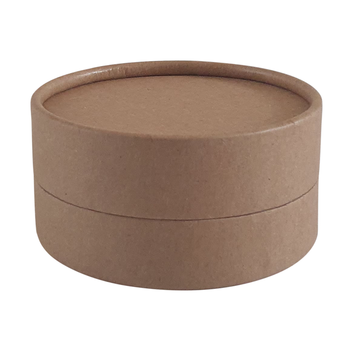 Brown Kraft cardboard jar with wax lining for cosmetics
