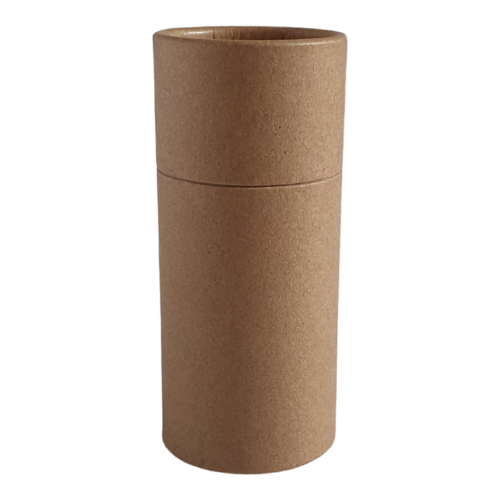 Large brown Kraft push-up cardboard tube
