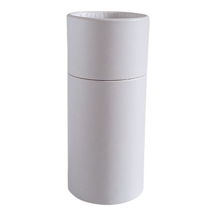 Large white push-up cardboard tube