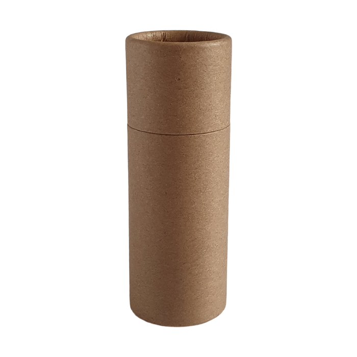 Medium brown Kraft push-up cardboard tube