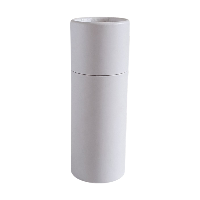 Medium white push-up cardboard tube