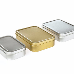 Silver or Gold Rectangular Tobacco Tins
