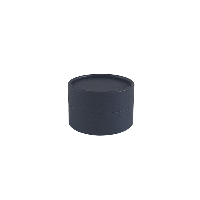 Black cardboard jar with wax lining for cosmetics