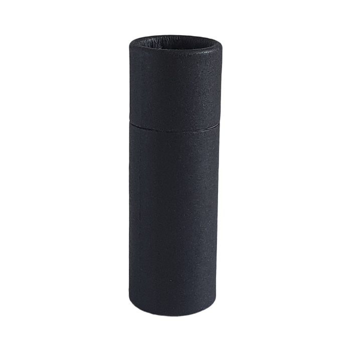 Small black push-up cardboard tube