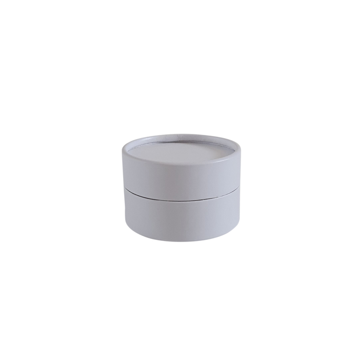White cardboard jar with wax lining for cosmetics