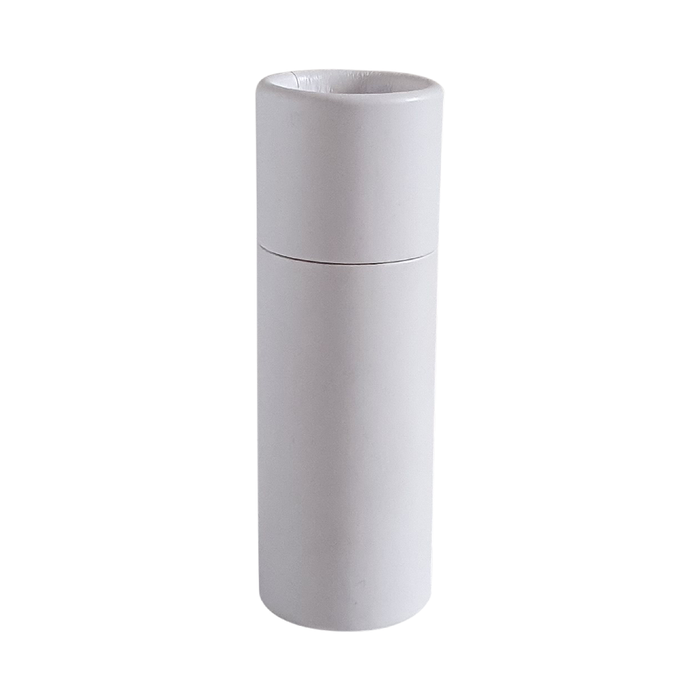Small white push-up cardboard tube