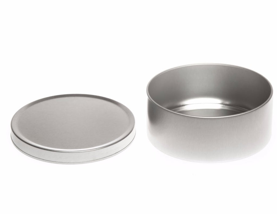 Silver Round Seamless Travel Sweet Solid Slip Lid Tins