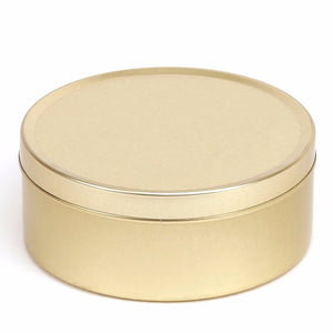 Gold Round Seamless Travel Sweet Solid Slip Lid Tins