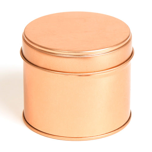 Welded Side Seam Tins for Candles in Rose Gold