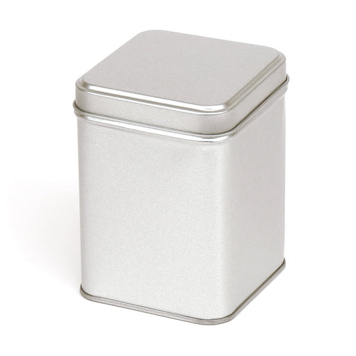 Tall Silver Square Tins with Stepped Slip Lid - T1030