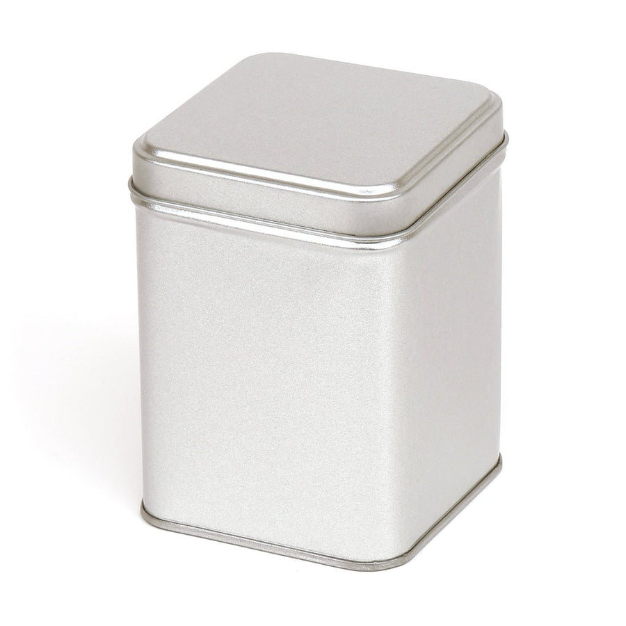 Tall metal tin with stepped lid