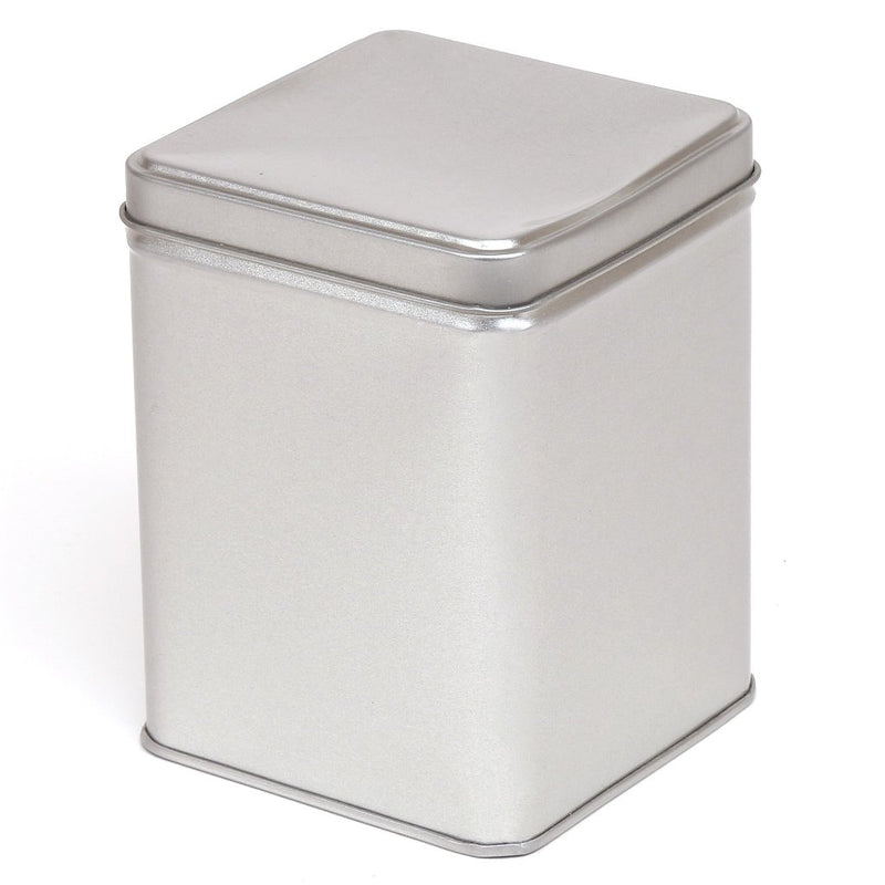 Tall Silver Square Tins with Stepped Slip Lid - T1040