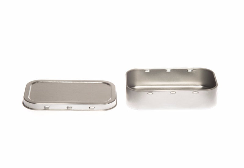 T2105 Silver Rectangular Tobacco Tin