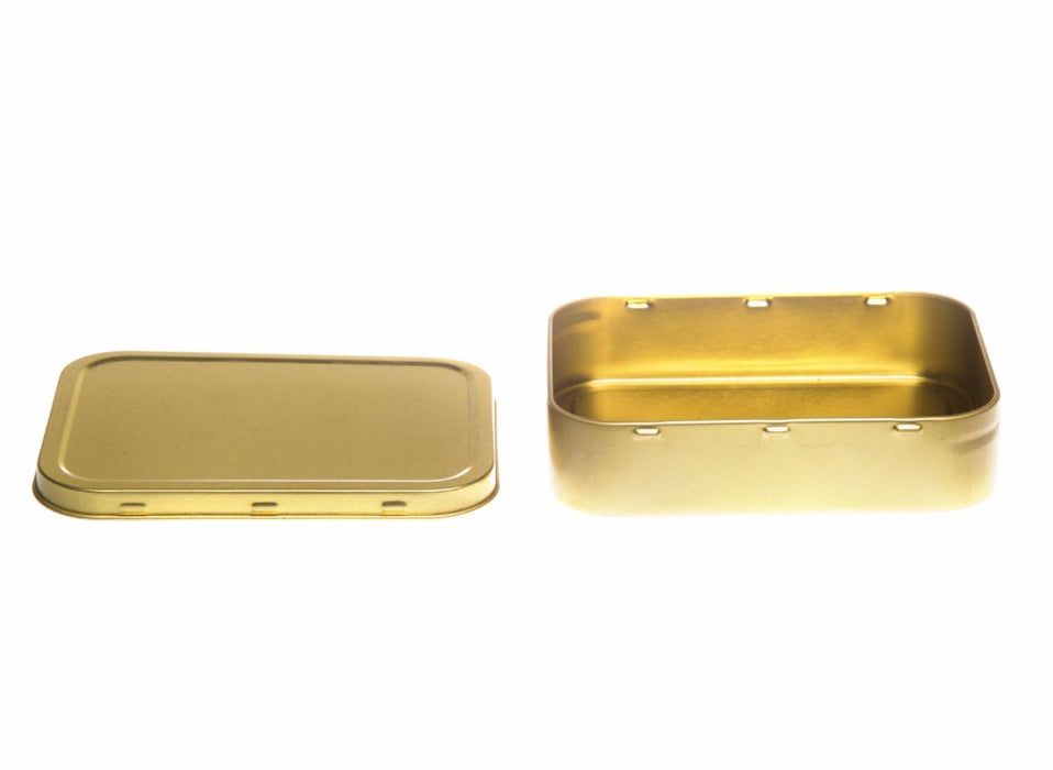 Gold Rectangular Tobacco Tin