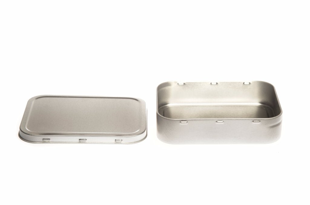 T2108 Silver Rectangular Tobacco Tin