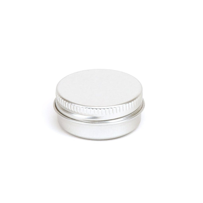Round aluminium screw lid container with EPE liner - T9001