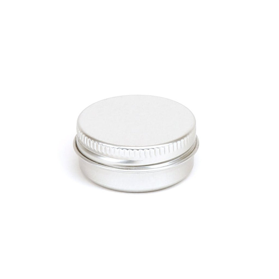 A collection of round aluminium screw lid containers with EPE liners