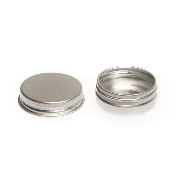 Round aluminium screw lid container with EPE liner - T9003