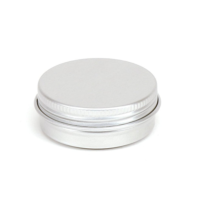 Round aluminium screw lid container with EPE liner - T9005