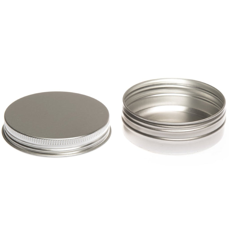 Round aluminium screw lid container with EPE liner - T9007
