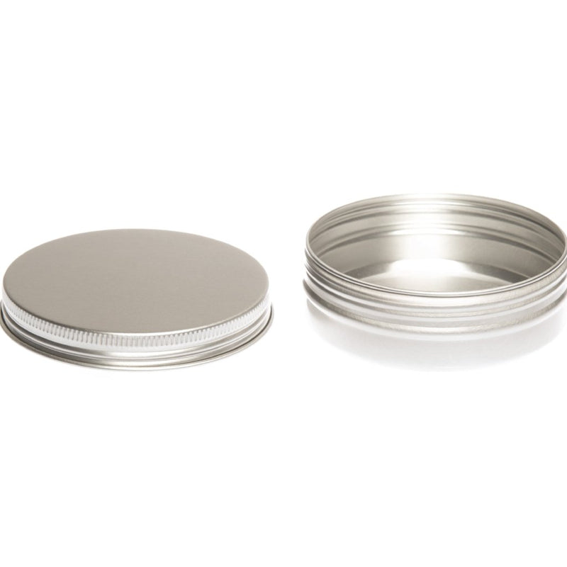 Round aluminium screw lid container with EPE liner - T9008