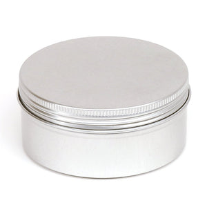 Round aluminium screw lid container with EPE liner - T9009