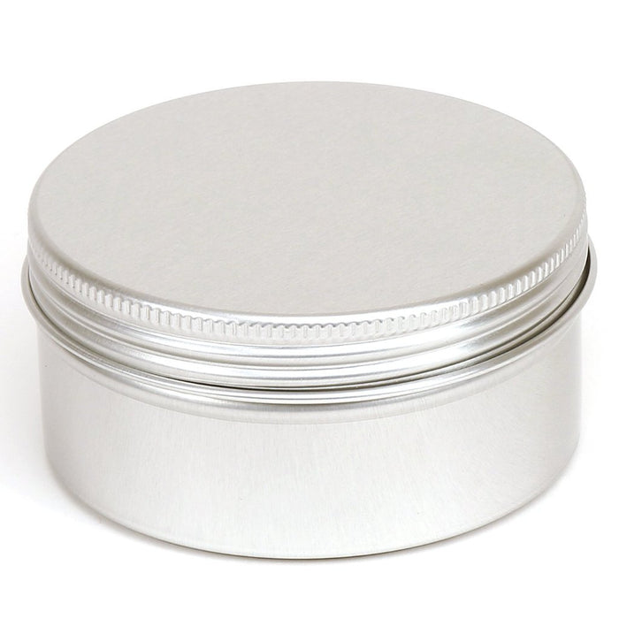 Round aluminium screw lid container with EPE liner - T9011