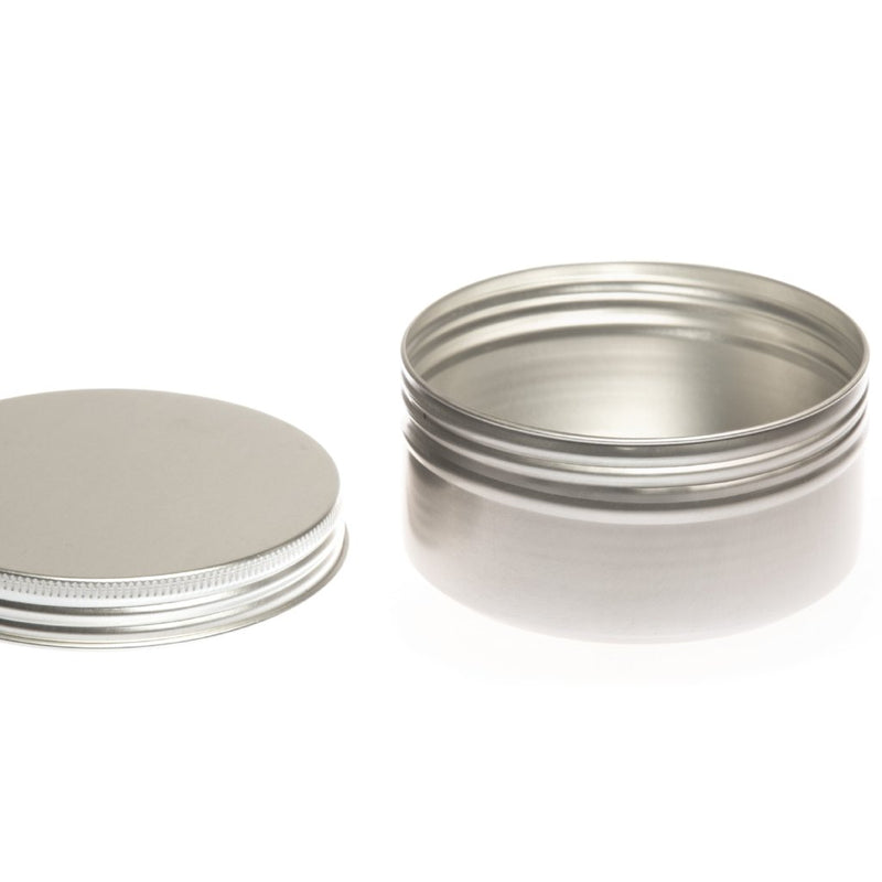Round aluminium screw lid container with EPE liner - T90011