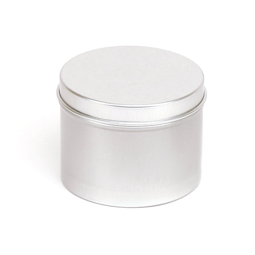 Round aluminium seamless tin container with slip lid - T9234