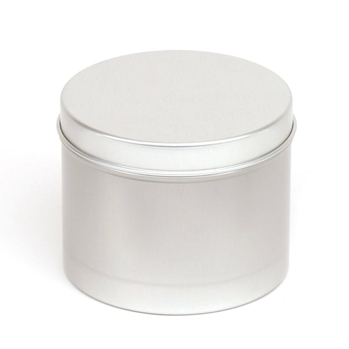 Round aluminium seamless tin container with slip lid - T9236
