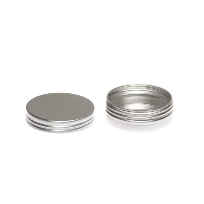 Round aluminium tin container with smooth lid and EPE liner - T9305