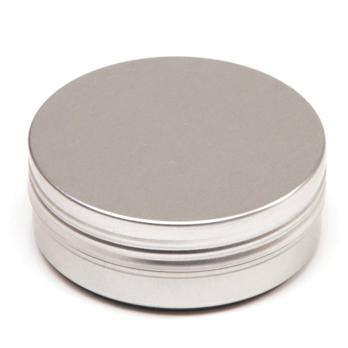 Round aluminium tin container with smooth lid and EPE liner - T9307