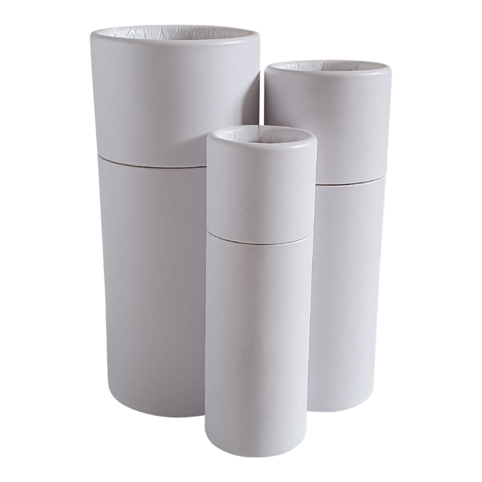 White push-up cardboard tube collection