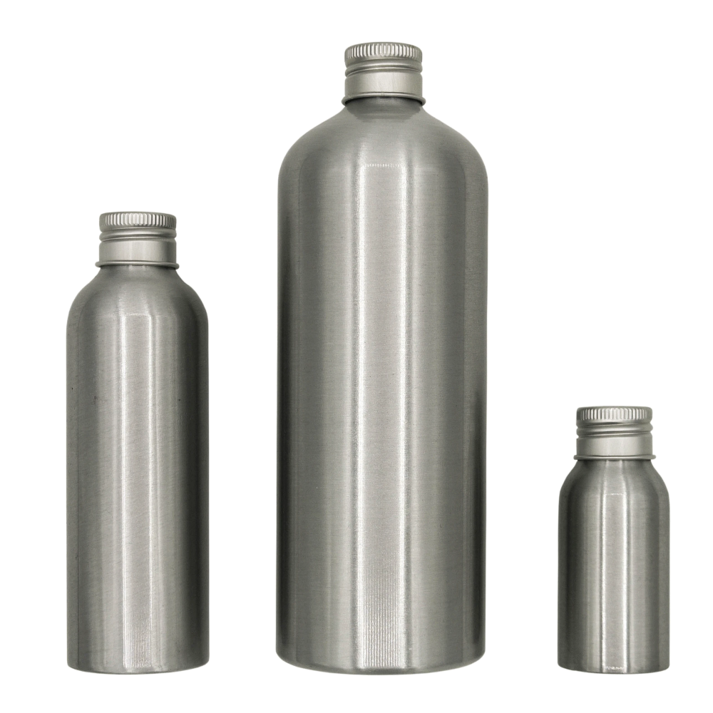 Aluminium bottles from Millbarn Packaging
